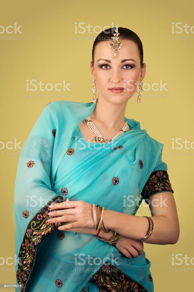 beautiful indian woman stock photo