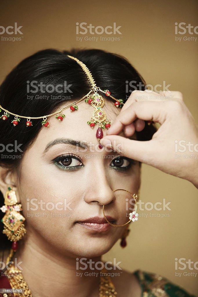 Beautiful Indian Woman with Bindi stock photo