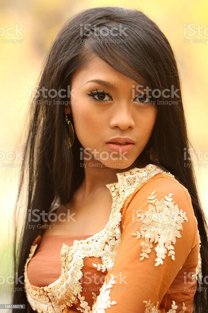 Beautiful Indonesian girl royalty-free stock photo