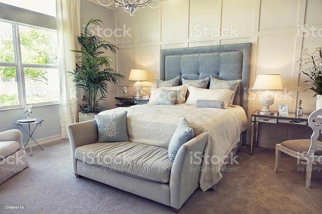 beautiful interior bedroom stock photo