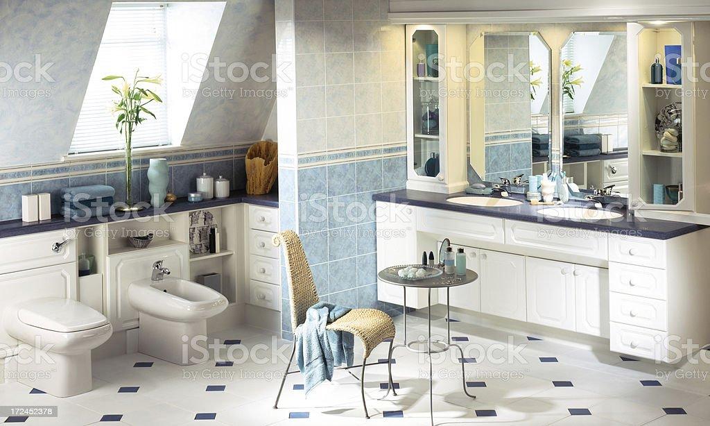Beautiful interior of a luxurious bathroom royalty-free stock photo