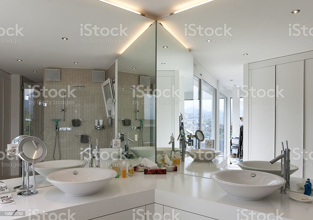 beautiful interior of a modern house stock photo