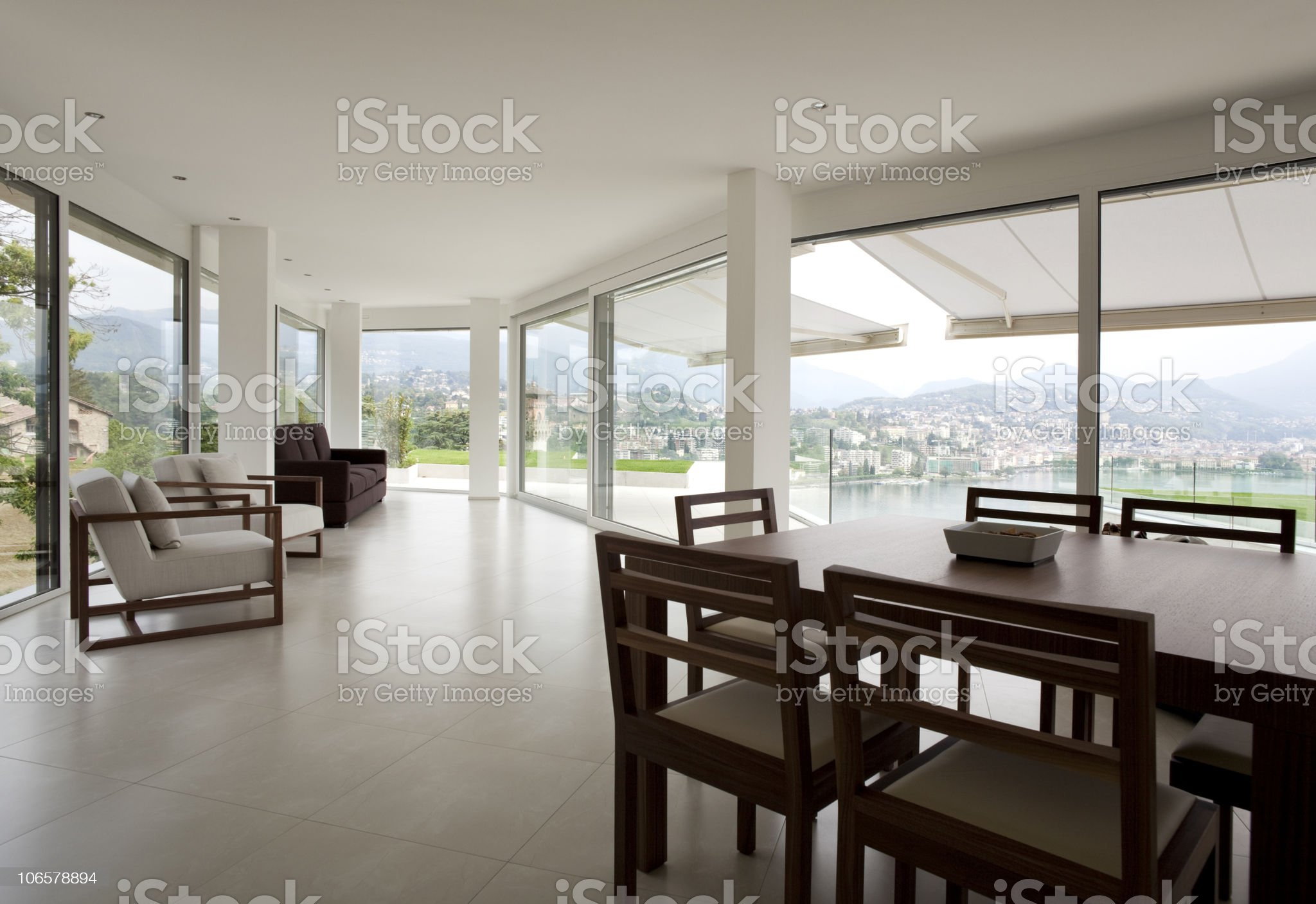 beautiful interior of a modern house royalty-free stock photo