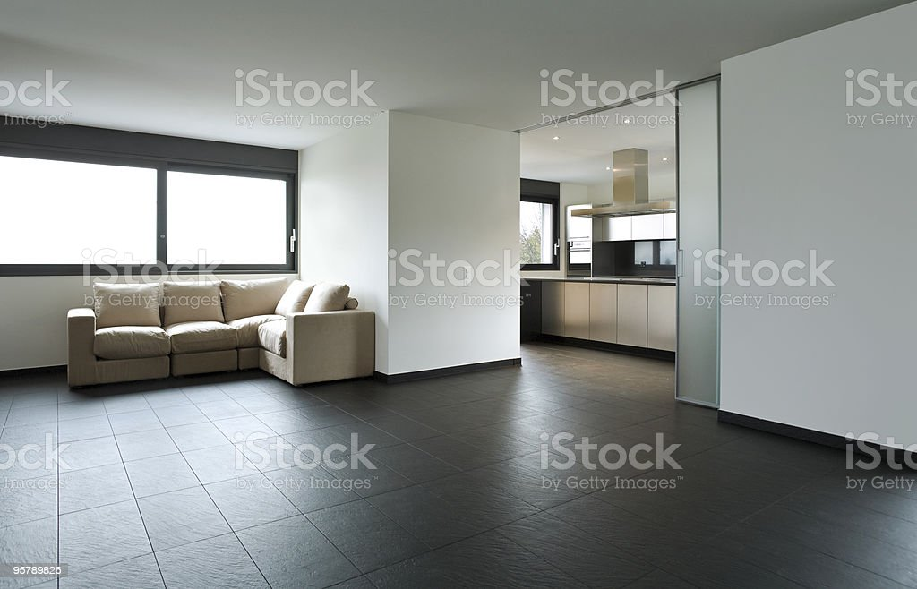 A beautiful interior of a modern house royalty-free stock photo