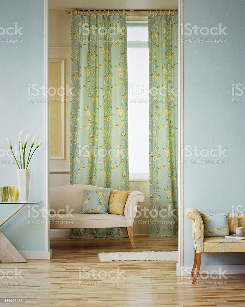 Beautiful interior on a living room stock photo