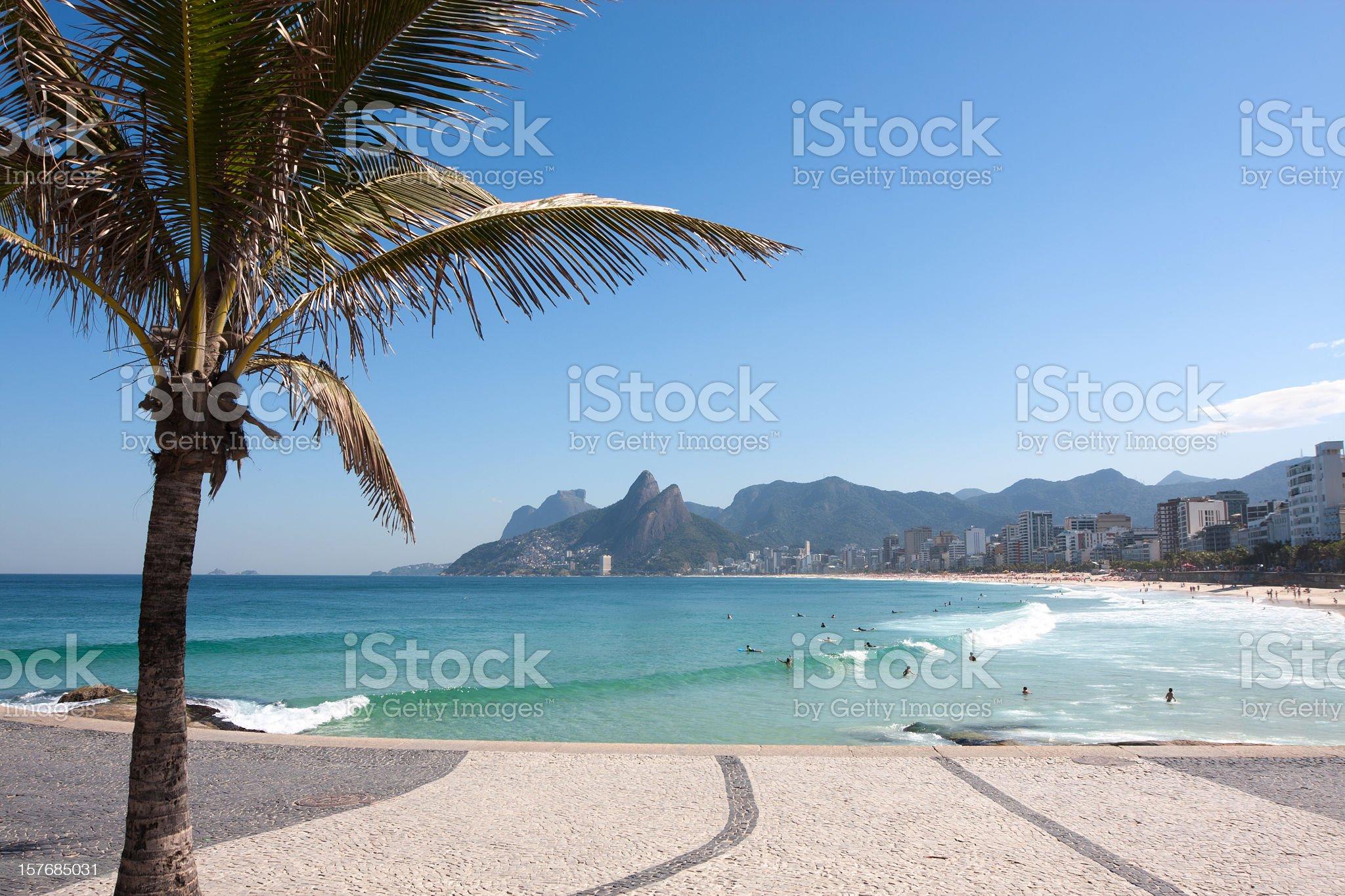 Beautiful Ipanema Beach in Rio de Janeiro royalty-free stock photo