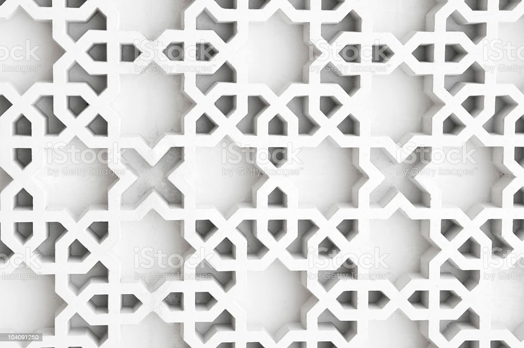 Beautiful Islamic design in white royalty-free stock photo