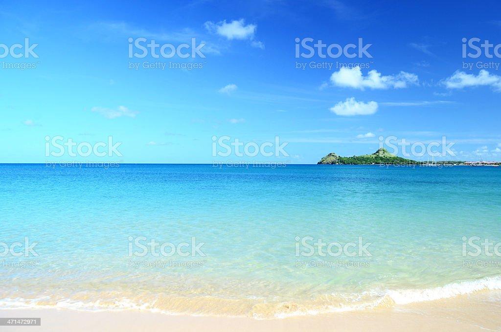 beautiful island and beach stock photo