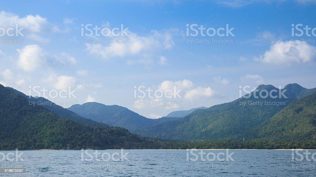 Красивые остров и видом на море Стоковые фото Стоковая фотография