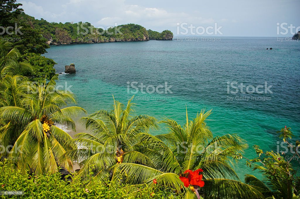 Beautiful island of Isla San Jose off Panama's Pacific Coast stock photo