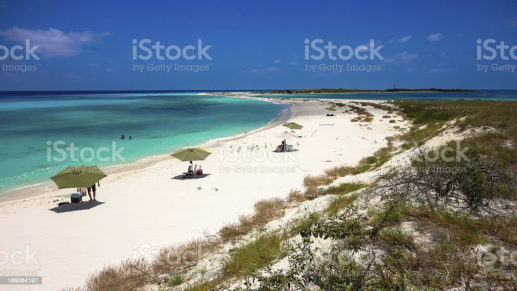 Beautiful island to relax in an archipelago, Caribbean stock photo
