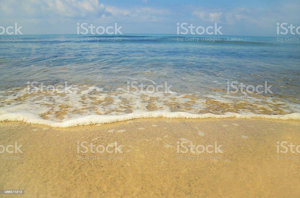 Beautiful Italian beach in Porto Ercole Tuscany stock photo