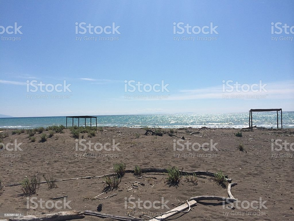 Bela Praia italiana foto royalty-free