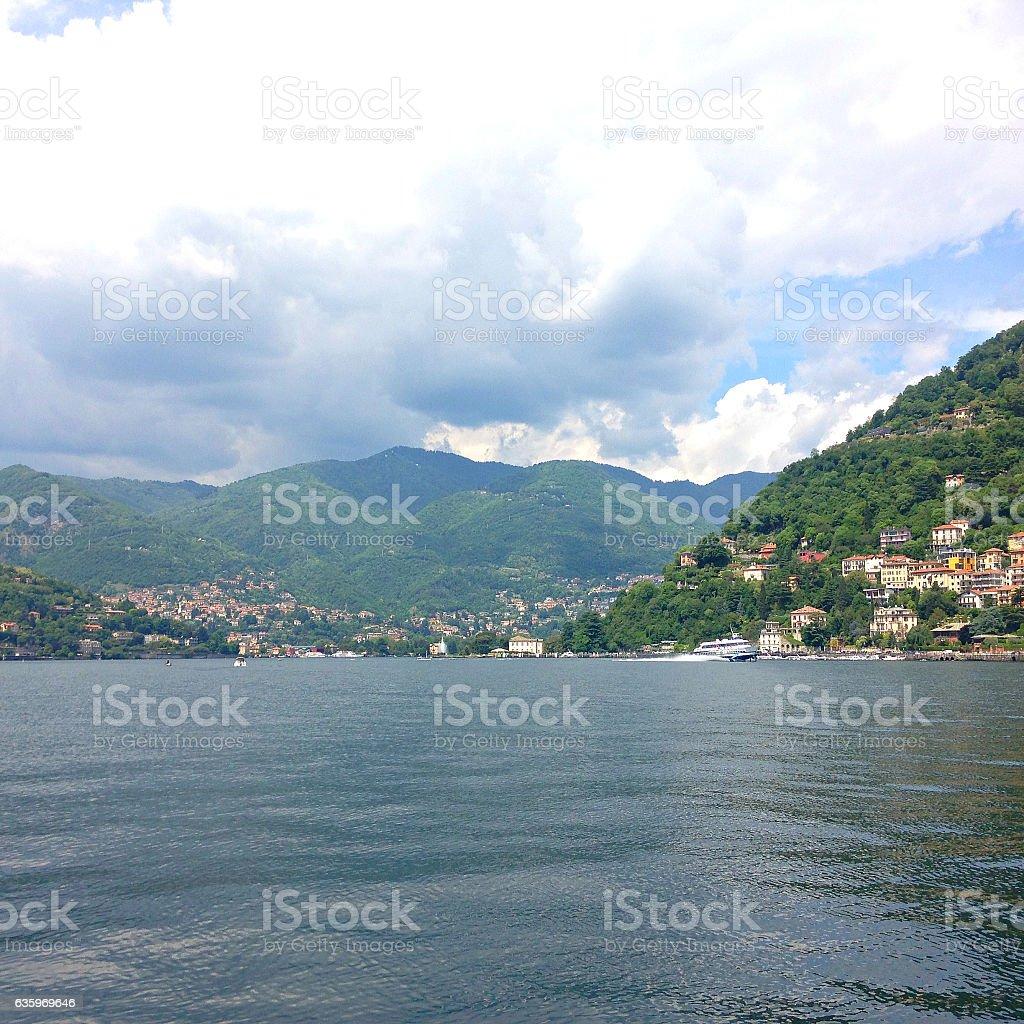 Beautiful Italian land - Como lago stock photo