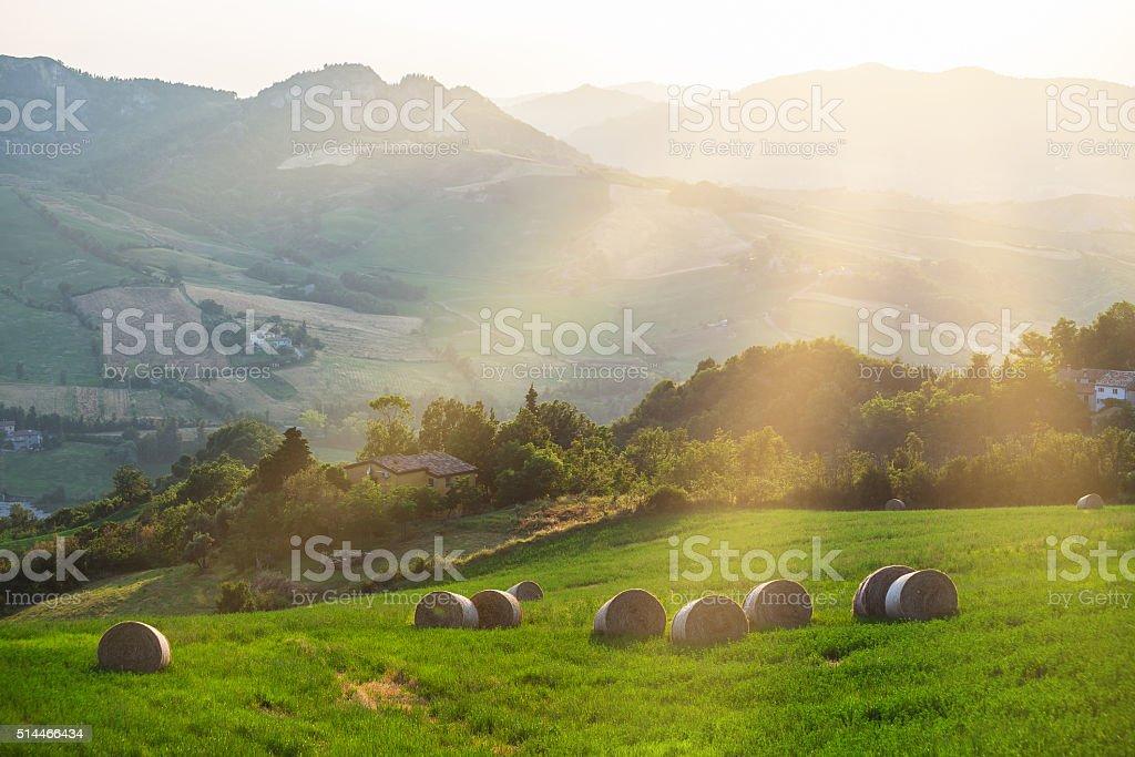 Beautiful Italian landscape stock photo