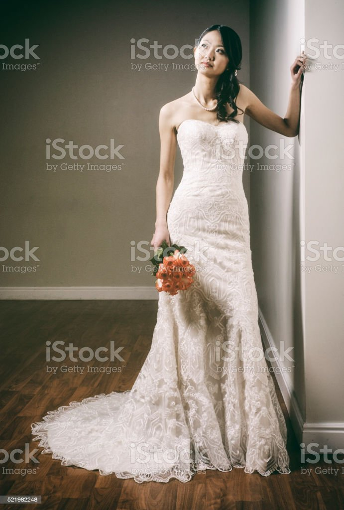 Beautiful Japanese Bride stock photo