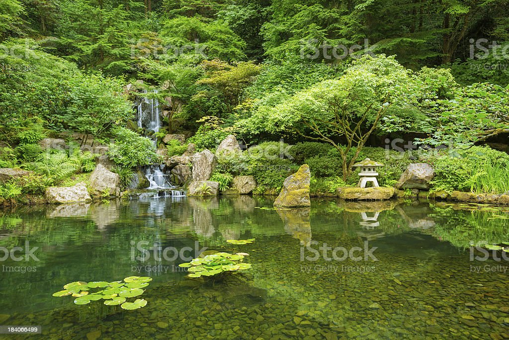 Beautiful Japanese Garden stock photo