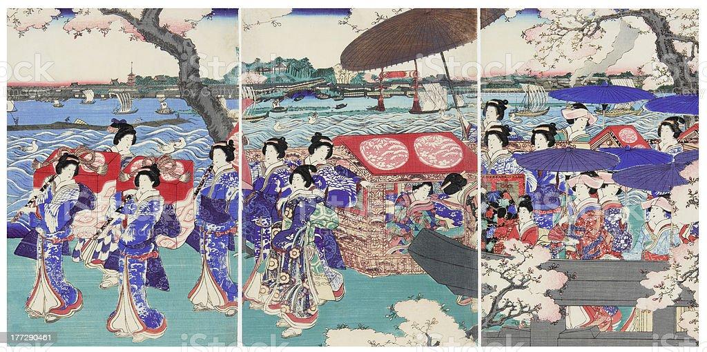Beautiful Japanese woman royalty-free stock photo