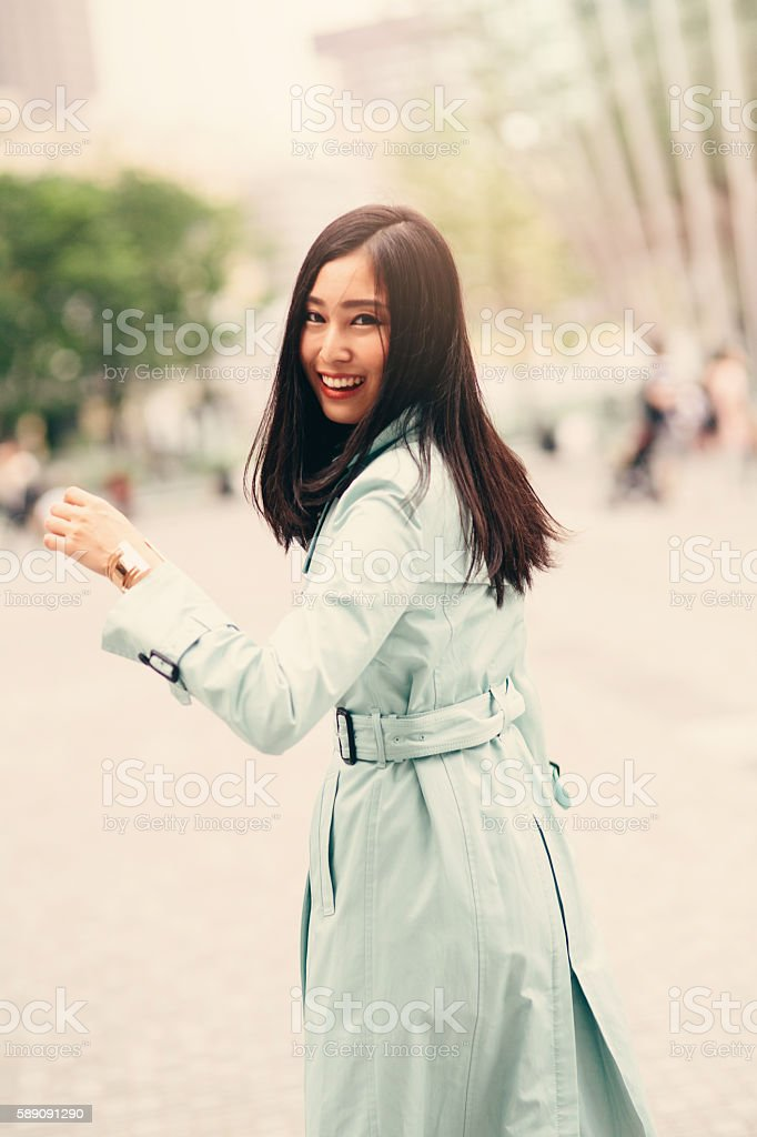 Beautiful japanese woman stock photo