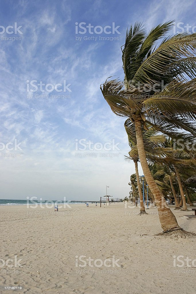 Beautiful Jumeirah Beach, Dubai royalty-free stock photo