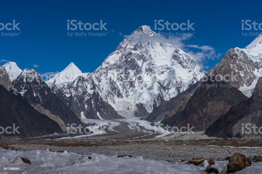 Beautiful K2 mountain and Angel peak , K2 trek, Pakistan stock photo