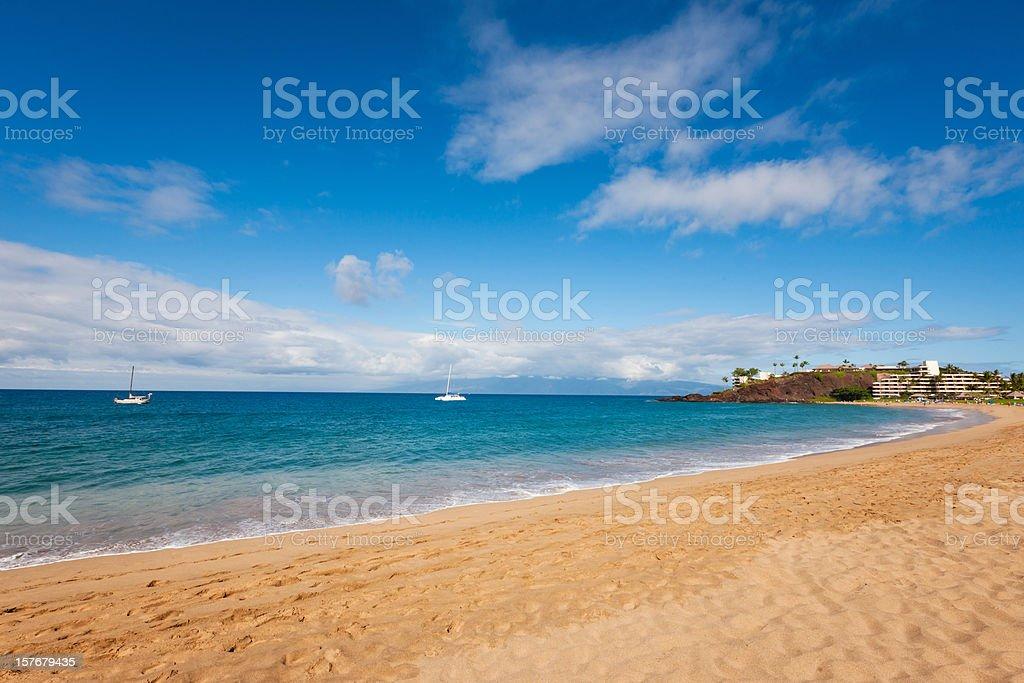 Beautiful Kaanapali Beach Maui Hawaii stock photo