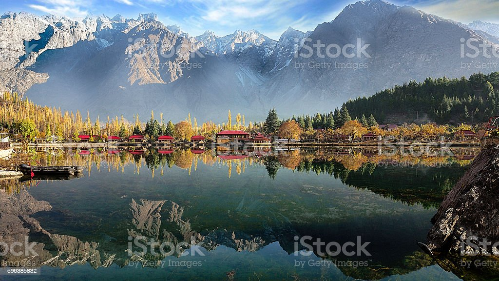 Beautiful Kachura Lake in Skardu stock photo