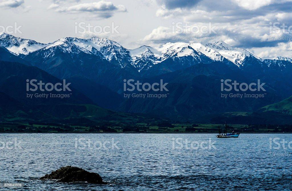 Beautiful Kaikoura Ranges stock photo