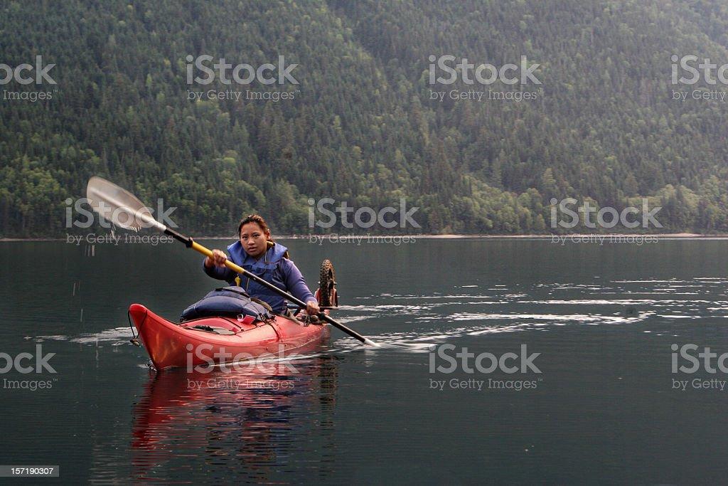 Beautiful Kayaker stock photo