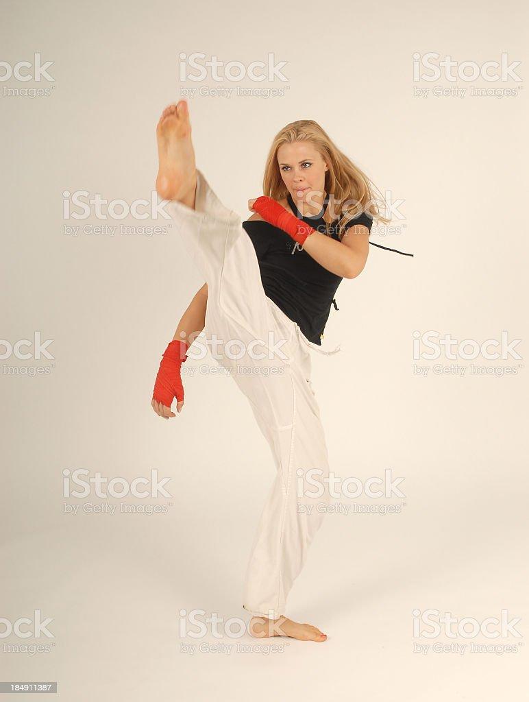 Beautiful Kick royalty-free stock photo