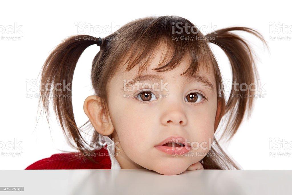 beautiful kid close portrait isolated on white stock photo