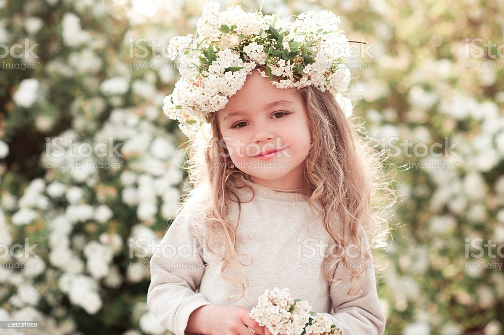Beautiful kid girl stock photo
