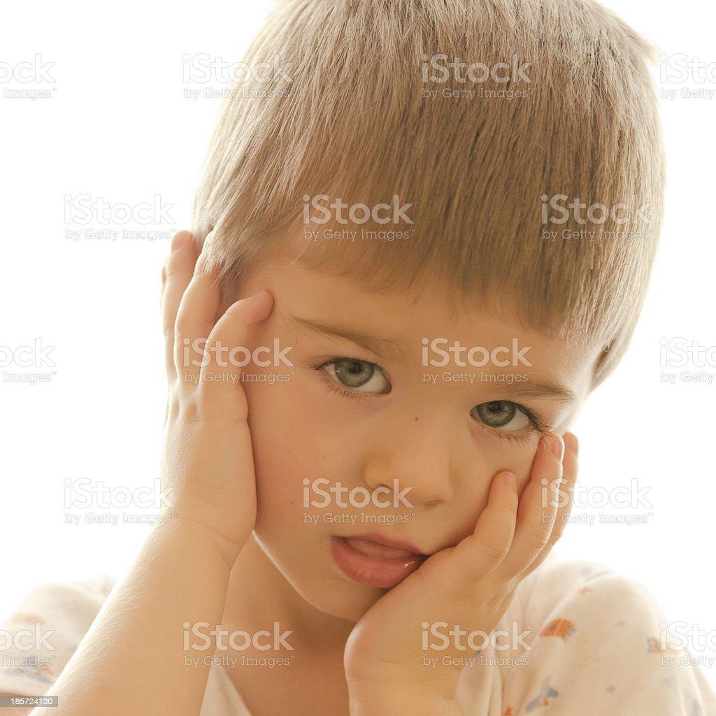 Beautiful kid posing and smiling royalty-free stock photo