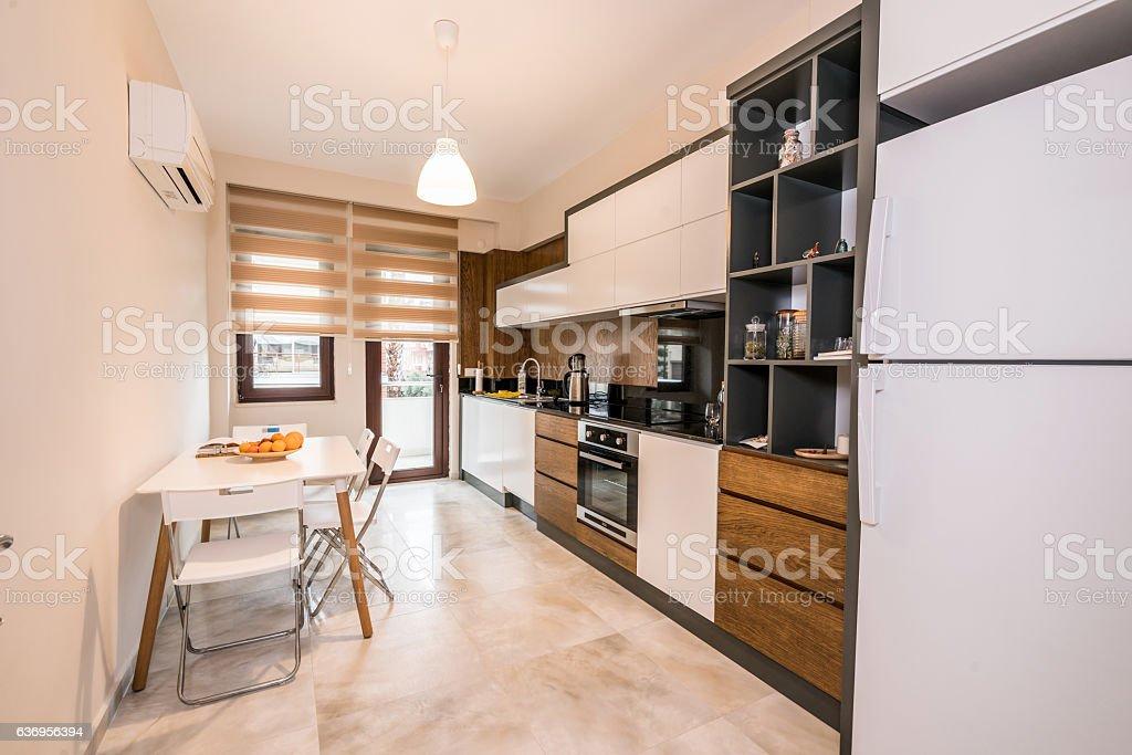Beautiful Kitchen in New Luxury Home stock photo