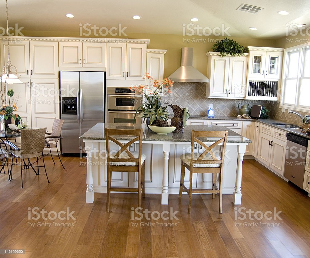 Beautiful Kitchen interior stock photo