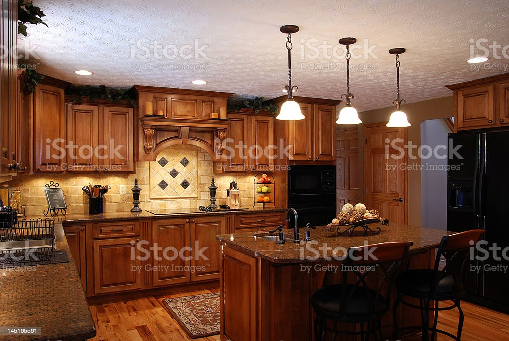Beautiful kitchen stock photo