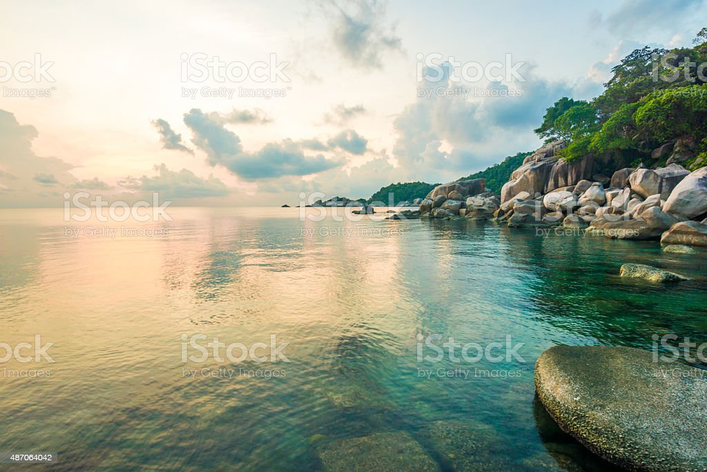 Beautiful Koh Tao islands in Thailand. snorkeling paradise with stock photo