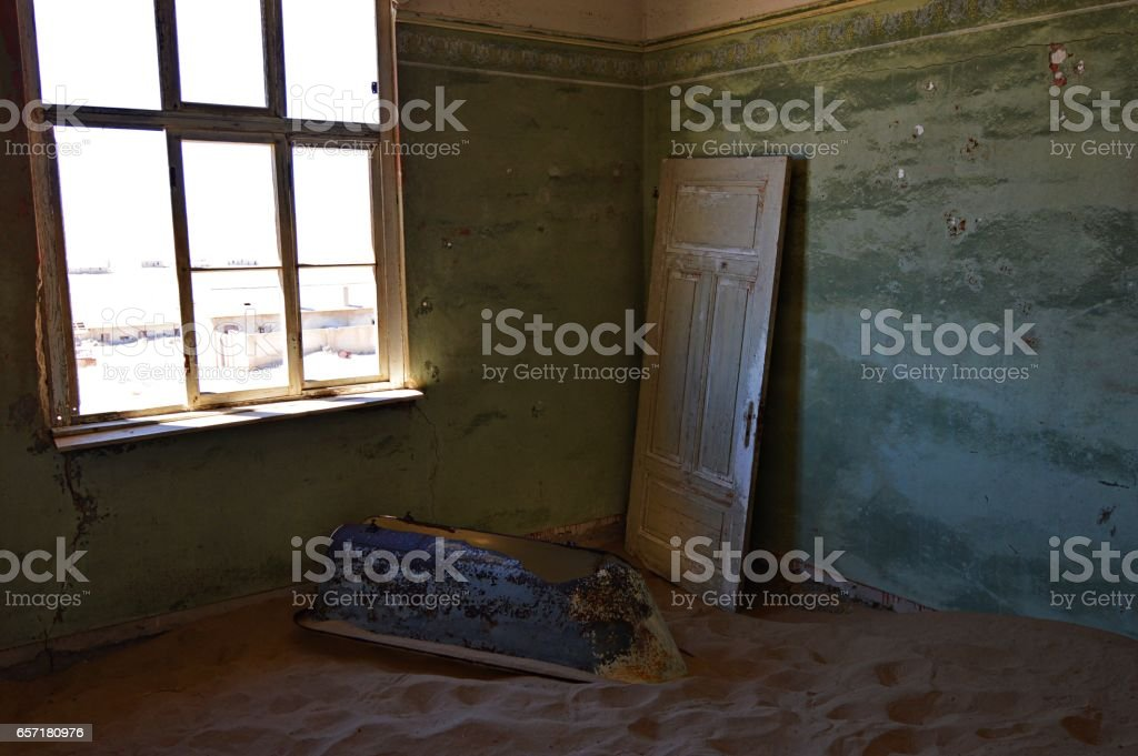 Beautiful Kolmanskop in Namibia stock photo
