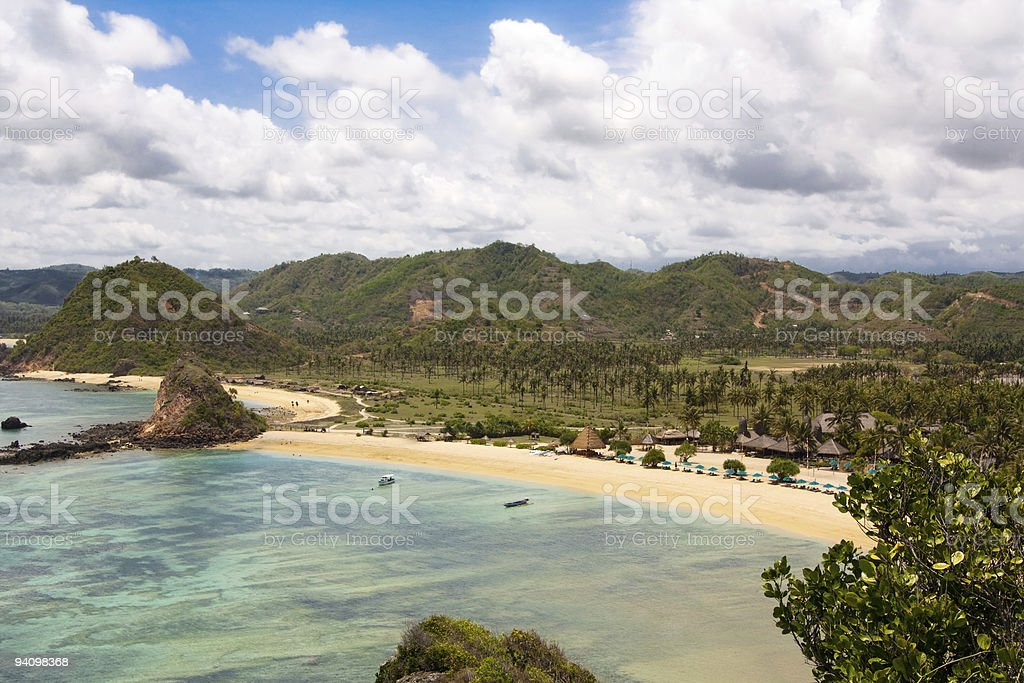 Beautiful Kuta Beach stock photo