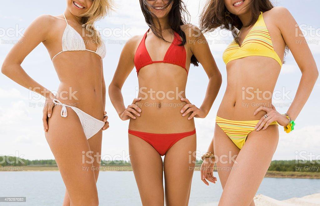 Beautiful ladies stock photo