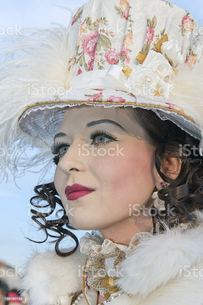 Beautiful Lady at the  Carnival Venice Italy royalty-free stock photo