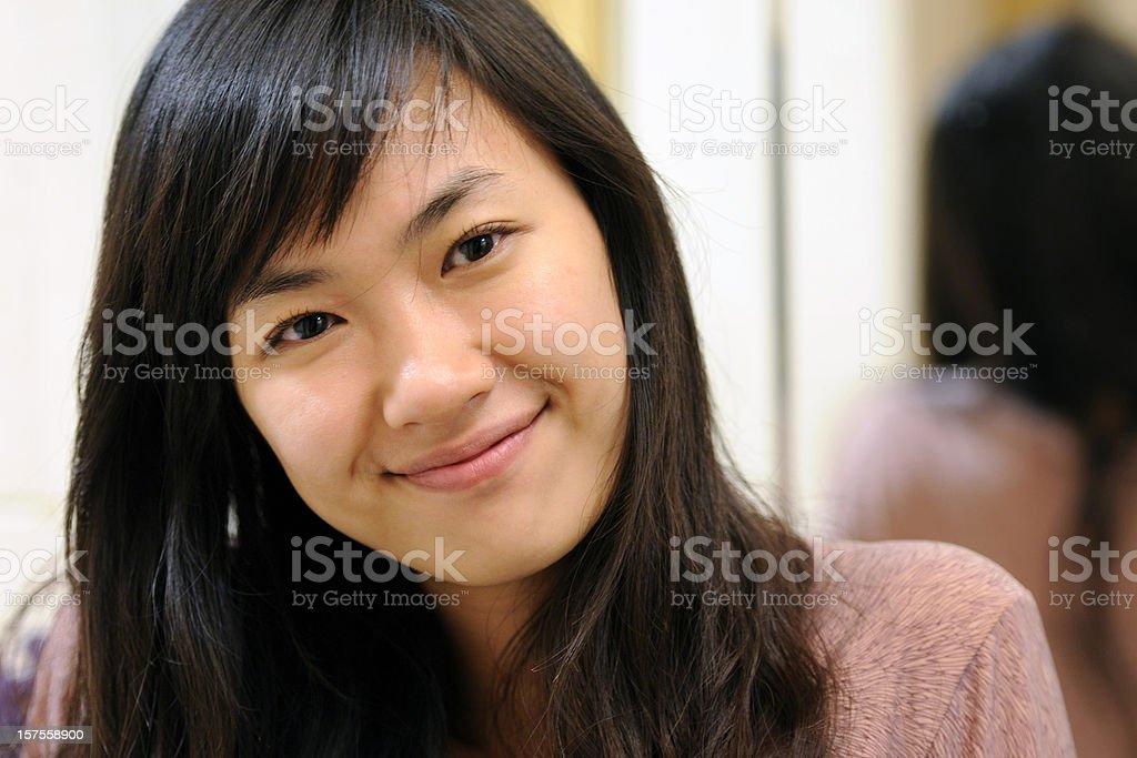 Beautiful Lady Smiling - Large royalty-free stock photo