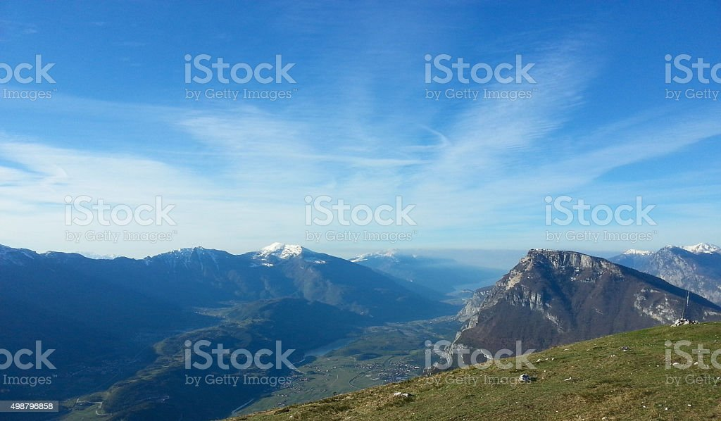 Beautiful Lake Garda Valley Landscape, Italy stock photo