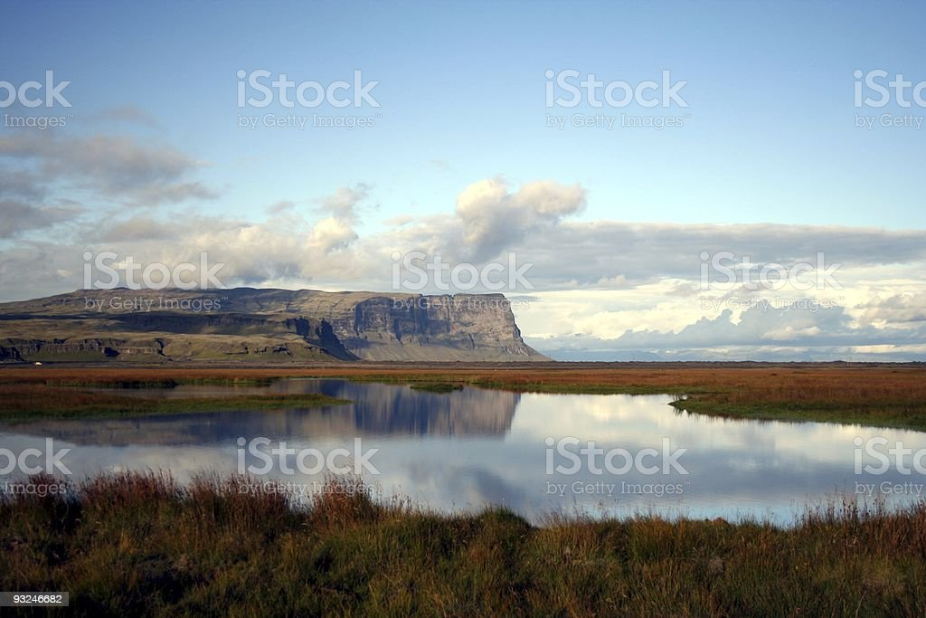 Beautiful lake in central Iceland royalty-free stock photo