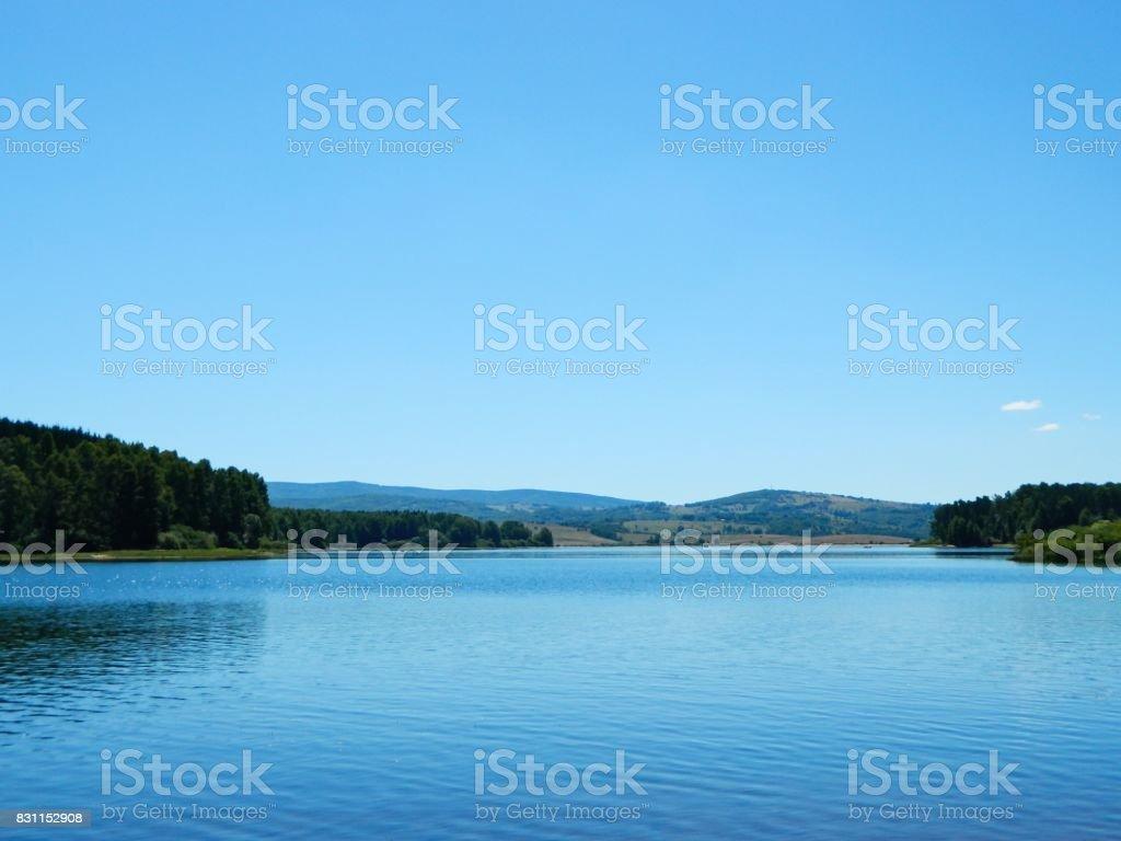Beautiful lake in Serbia stock photo