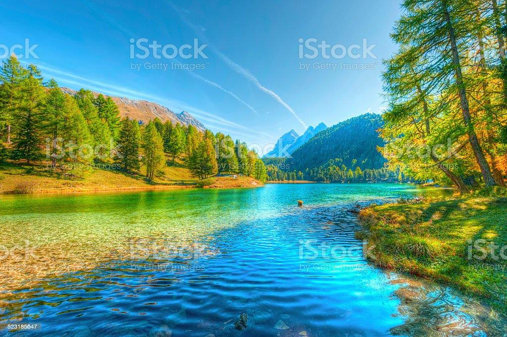 Beautiful lake in Switzerland stock photo