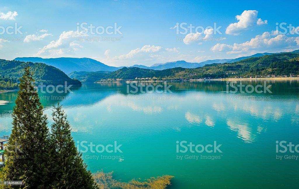 Beautiful Lake, Jablanicko Jezero, Bosnia stock photo