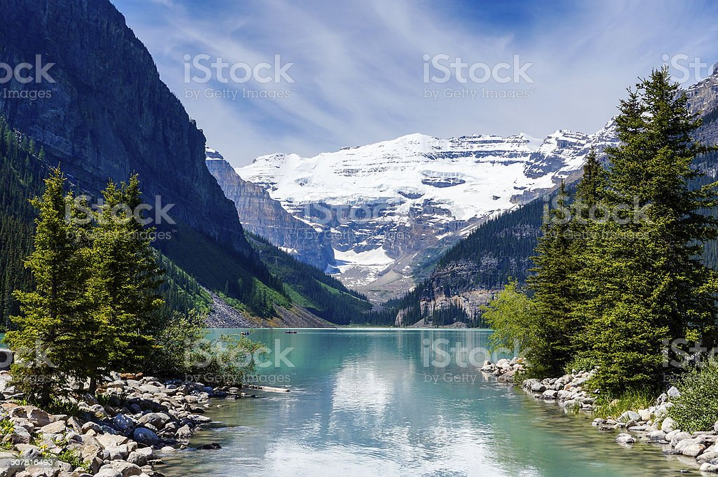 Beautiful Lake Louise stock photo