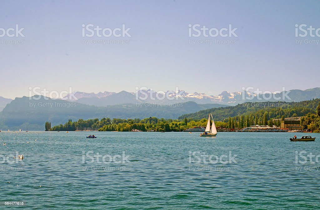 Beautiful Lake Lucerne, Switzerland stock photo