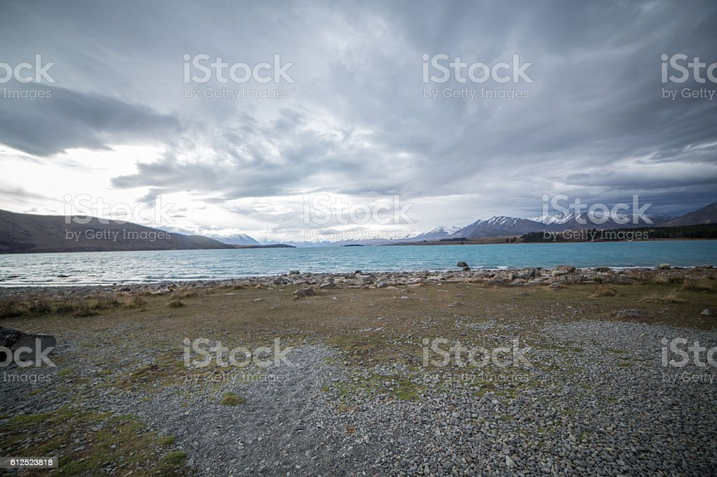 Beautiful lake Tekapo stock photo